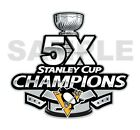 Pittsburgh Penguins 5 Times Stanley Cup Champions  Die Cut Decal $2.99 USD on eBay