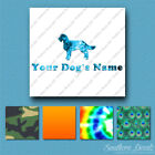 Custom American Water Spaniel Dog Name Decal Sticker - 25 Printed Fills  6 Fonts