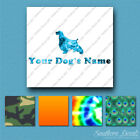 Custom English Springer Spaniel Name Decal Sticker - 25 Printed Fills - 6 Fonts