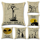 Nightmare Before Christmas Halloween Cotton Linen Pillow Case Cushion Cover