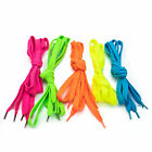 Neon Shoe Laces UV Reactive Party One Pair Green Orange Pink Yellow