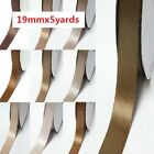 "Double Faced Satin Ribbon 3/4"" /19mm Wedding 5 Yards Ivory to Brown for bow"