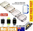 New Super Slim Electroplate Metal Plated Hard Cover iWatch 1 / 2 38mm 42mm Case