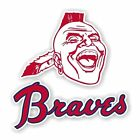 Atlanta Braves Vintage Decal / Sticker Die cut