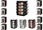 16pcs Spices Rack Revolving Metallic Spice Herbs Rack with 16 Jars