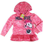 kids Girls Minnie mouse fleece jacket hoodie zip top outfit size 3 4 5 6 7 new