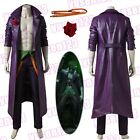 Injustice 2 The Joker Jared Leto Halloween Cosplay Coat Pants Shirt Custom Made