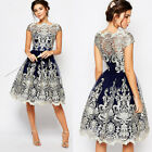 Women Summer Lace Evening Cocktail Party Mini Dress Wedding Prom Gown Dress
