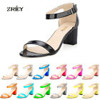 Women's Summer Fashion Cyprus IV Heel Open Toe Summer Shoes Buckle Up Sandals