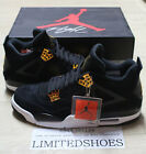 2017 NIKE AIR JORDAN 4 IV RETRO ROYALTY 308497-032 BLACK GOLD MENS US 14 SIZE