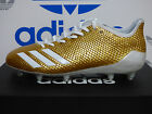 NEW AUTHENTIC ADIDAS adizero 5-Star 6.0 Gold Cleats; BW0778