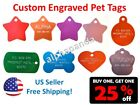 Custom Engraved Personalized Pets Names Tags IDs Dogs Cats Collars Charms 2-SIDE