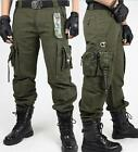Men's cargo Baggy millitary Tactical Pants Outdoor work wear Overall Trouser New