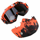 Motorcycle Full Face Mask Goggles ATV Dirt Bike Off-Road Anti-UV Racing Glasses