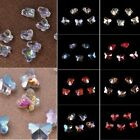 Wholesale 10/20PCS 10X8mm Butterfly Faceted Crystal Glass Loose Spacer Beads Lot