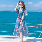 2017 Travel Bohemia Chiffon Elegant, Seaside Holiday Beach Skirt, Slim Two Sets