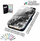 Old Vintage Steam Loco Train Crash War - Mobile Leather Flip Wallet Case Cover