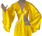 Yellow TMS Satin Flair Wrap Top Tie Belly Dance Choli Gypsy Tribal 30 Color