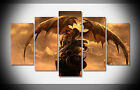 7375 warrior dragon wings fantasy Poster print with framed canvas Home art