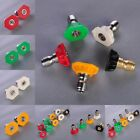 """1Pc High Pressure Washer Spray Nozzle Tips Variety Degrees 1/4"""" Quick Connect"""