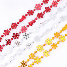 2.7m Snowflakes Snowman Beaded Garland Tinsel Christmas Tree Decoration Chain