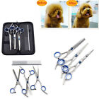 Pet Dog Grooming Scissors Set Curved Thinning Shear Professional Hair Cutting