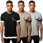 Fremont & Harris Mens Branded Zip Pocket T Shirt Short Sleeve Tee Crew Neck Top