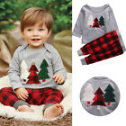 Toddler Kids Baby Boy Girl Clothes Christmas Tree T-shirt Pant 2pcs Outfits Set