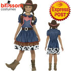 CK1022 Texan Cowgirl Rodeo Wild West Western Sheriff Fancy Dress Up Girl Costume