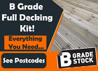 Tanalised Decking Kits B GRADE All you need..Boards-fixings-membrane-Instruction