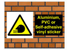 1015 Inhalation hazard sign weatherproof Aluminium Plaque PVC or Vinyl Sticker