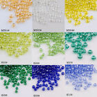 3000pcs*2mm Round Glass Bead Loose Spacer Jewelry Making Craft DIY 18 Colors 45g
