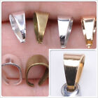 Pendant Pinch Clip Bail Gold Silver Bronze Plate or Stainless Steel Many Sizes
