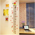 Kids Baby 3D Height Chart Measure Kids Growth Wall Sticker Decal  Removable DB S