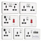 Slimline Screwless Socket Range - Polished Chrome