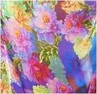 100% PURE SILK CHIFFON STUNNING PATTERN PRINT BY THE YARD LIGHT WEIGHT SHEER