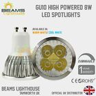 Premium Dimmable GU10 6W 8W 9W WARM/ COOL WHITE White LED Light Bulb Spotlight