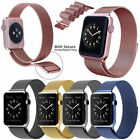 Magnetic Leather Milanese Stainless Steel Loop iWatch Strap for Apple Watch Band