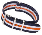 Nylon NATO Watch Strap Quality Band Army Military Diver G10 18 20 22 24mm Fabric