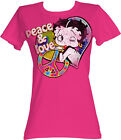 Betty Boop 1930's Cartoon Peace And Love Womans Fitted T Shirt $20.7 USD