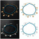 Women Lady Fashion Gold/Silver Acrylic Beads Blue/Green Turquoise Anklet