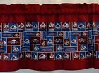 "Colorado Avalanche NHL Hockey Pieced Valance Panels Choose: 40"",52"", 80"" x 13"" L $20.0 USD on eBay"