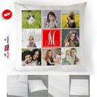 Personalised Collage Monogram Cushion Cover Custom Printed Photos Pillow Cover