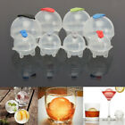 4pcs/Set Round Ice Cube Ball Maker Sphere Molds For Whisky Party Cocktails Gift