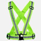 Adjustable Safety Security High Visibility Reflective Vest Night Running Jacket