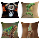 5 Pcs Chameleon Polyester Throw Pillow Case Sofa Cushion Cover Home Decor 18x18