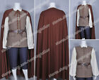 Pirates of the Caribbean Cosplay Will Turner Brown Costume Outfits Well Designed