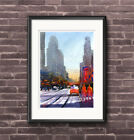 WILL ELLISTON Art PRINT Times Square New York City Street Watercolour Painting