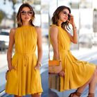 Fashion Women Summer Casual Sleeveless Evening Party Cocktail Short Mini Dress