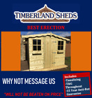 8x8 Garden Shed Fully T&G Tanalised Timber Cladding wooden Hut Sheds Summerhouse